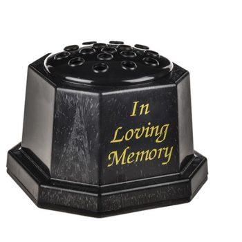Plastic Grave Vase Black