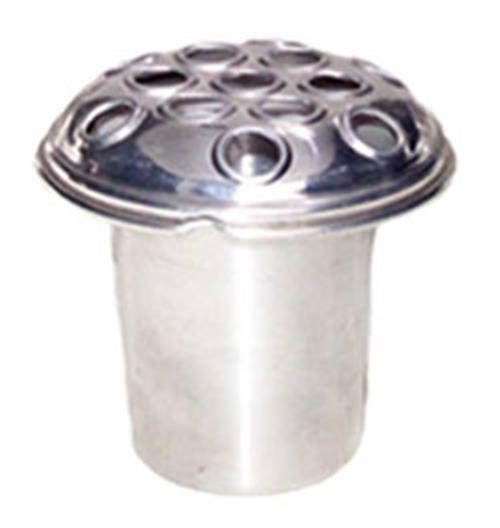 Aluminium grave vase silver