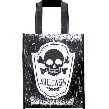 Black Skull Trick or Treat Bag
