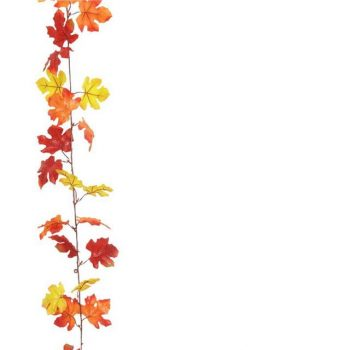 Artificial Autumn Maple Leaf Garland
