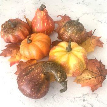 Artificial Assorted Pumpkins in Bag