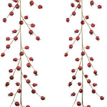Artificial Rosehip Berry Christmas Garland