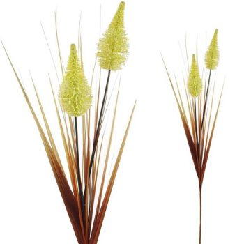 Large Artificial Tall Harvest Grass with Cream Cones