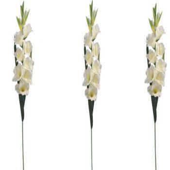 Artificial Cream Gladiolus Stem
