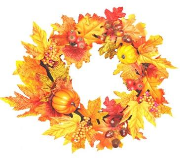 Artificial Autumn Pumpkin Wreath