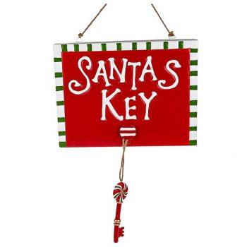 Santa Magic Key Christmas Decoration