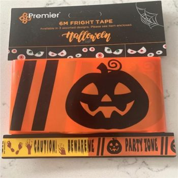 Orange Partyzone Fright Tape