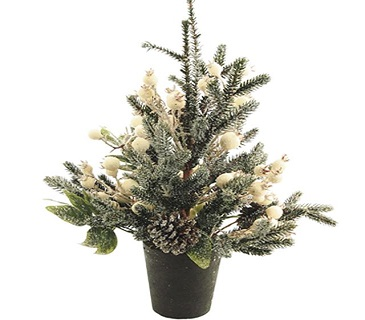 Artificial Winterberry Christmas Tree