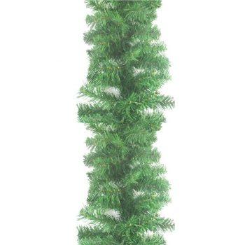 Artificial Plain Green Christmas Garland Decoration
