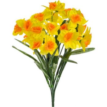 Artificial Daffodil Bush Two Tone Yellow