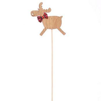 Pack of 6 Wooden Reindeer Picks