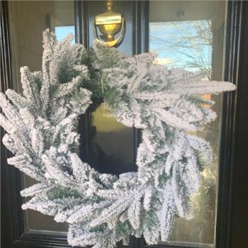 Artificial Spruce Snow Covered Christmas Wreath