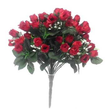 Artificial Rosebud Bush with Gyp