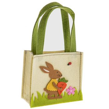 Easter Felt Bag with Bunny and Carrot