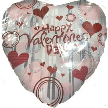 Happy Valentine's Day Hearts Foil Helium Balloon - 45cm