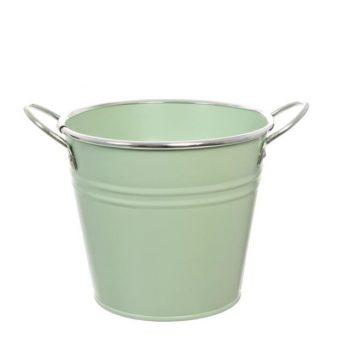 Green Metal Flower Bucket