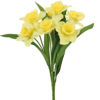 Artificial Silk Daffodil Bunch with 7 flower heads