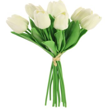 Artificial Cream Tulips Bunch