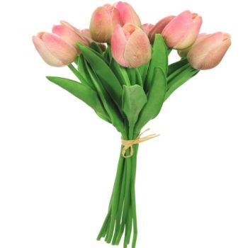 Artificial Pink Tulips Bunch