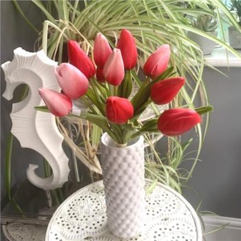 Artificial Flower Tulip Bundle in Red and Pink