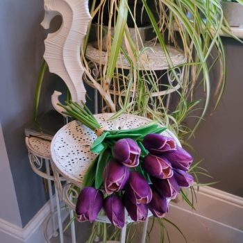 Artificial Purple Tulips Bunch