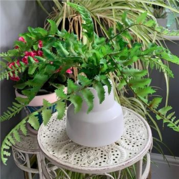 Artificial Fern Potted Plant in Retro Vase