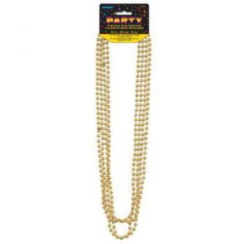 Gold Metallic Bead Necklaces