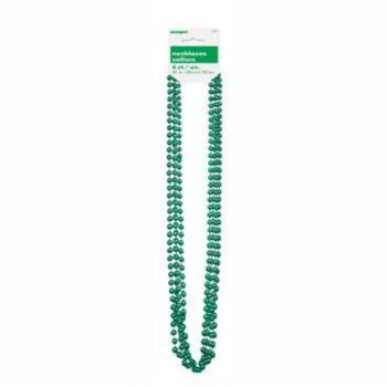 Green Metallic Bead Necklace