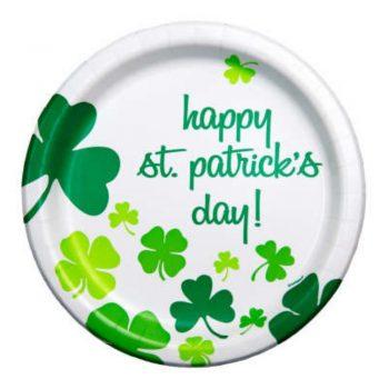 Happy St Patricks Day Shamrock Plates