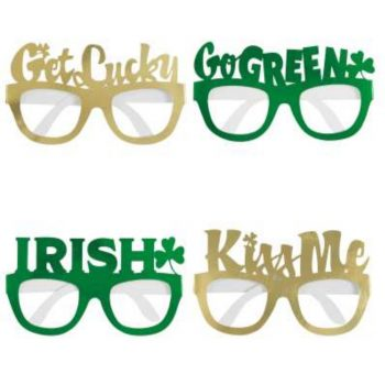 St Patricks Day Foil Novelty Glasses