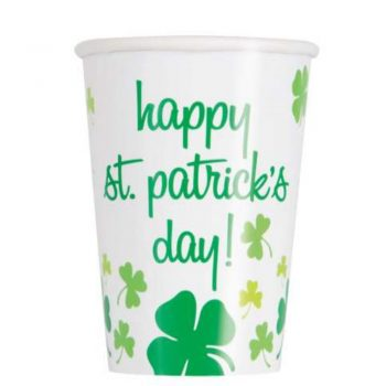 Happy St Patrick's Day Shamrock Paper Cups