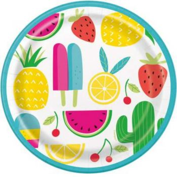 Summer Party Paper Plates
