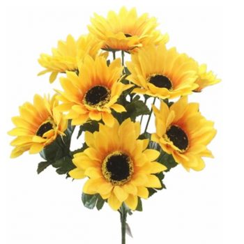 42cm Artificial Sunflower Bush