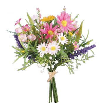 Artificial Daisy Blossom Bunch - Pink and Cream