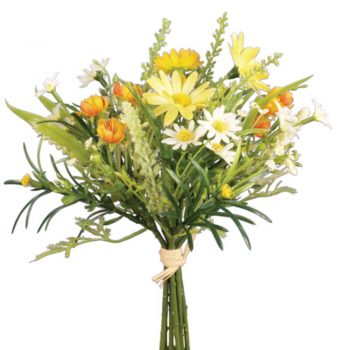 Artificial Daisy Blossom Bunch - Yellow and Orange