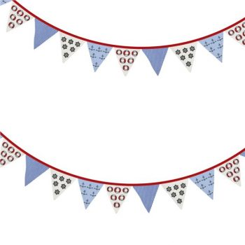 6ft Nautical Anchor Fabric Bunting Garland