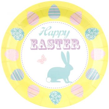 Happy Pack of 8 Easter Bunny Paper Plates