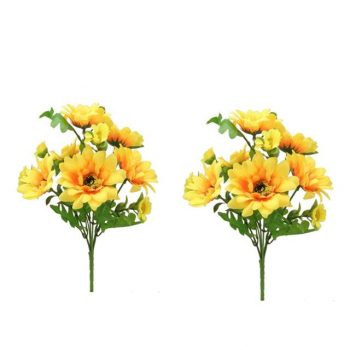 Artificial Sunflower Bushes - Pack of 2