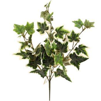 Artificial Premium Variegated Flocked Ivy Bush