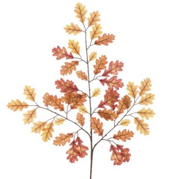 Artificial Oak Leaf Spray