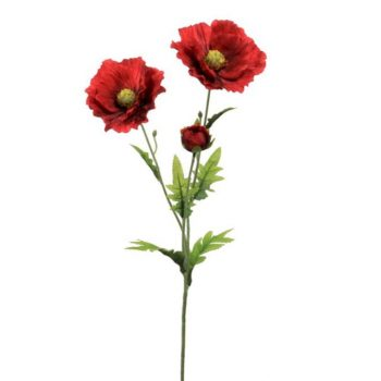 Artificial Red Country Poppy