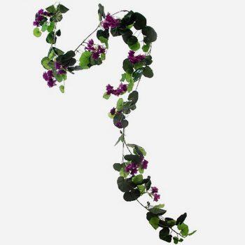 6ft Artificial Purple Geranium Flower Garland