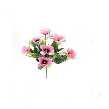 Artificial Pink Poppy Spring Bush