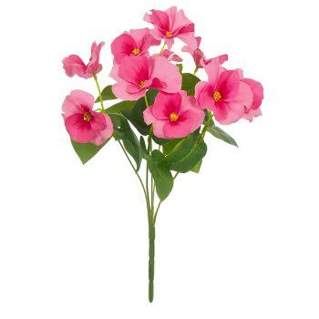Artificial Pink Pansy Bush