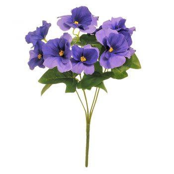 Artificial Purple Pansy Bush