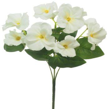 Artificial White Pansy Bush