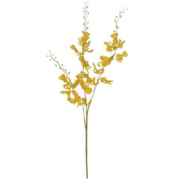Artificial Brazilian Dancing Orchid Stem - Yellow