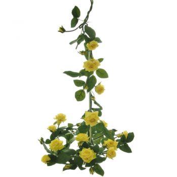 Artificial Yellow English Rose Garland