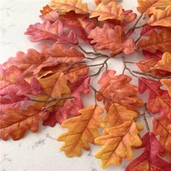 40 Artificial Oak Tree Leaves