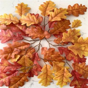 Pack of 20 Artificial Oak Tree Leaves